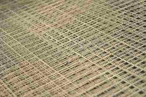 malla job shop negra 50 x 50 x 2,6 mm / panel 1,2 x 3 mts