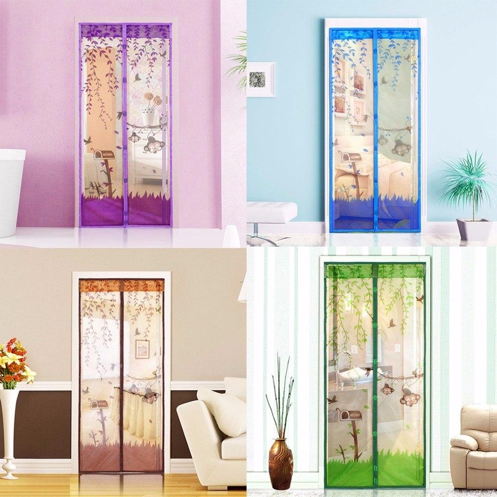 Malla magn tica puerta mosquitera cortina de proteger de - Cortinas mosquiteras para puertas ...