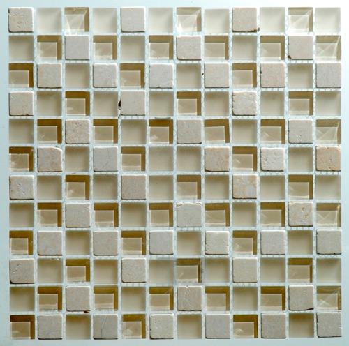 malla marmol y vidrio luanda 2, 30x30 - venecitas - la plata
