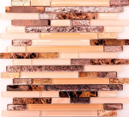 malla marmol y vidrio persia strips 30x30 venecitas la plata