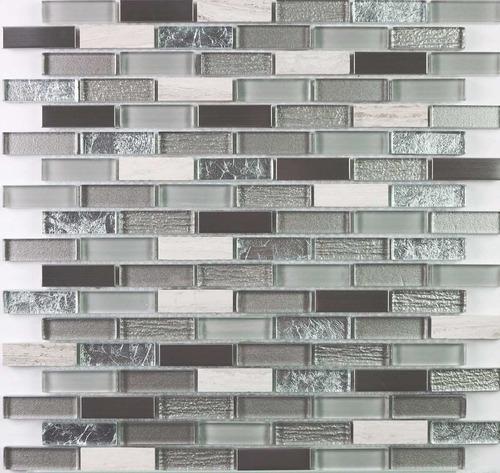 malla marmol y vidrio shiraz strips 30x30 venecitas la plata