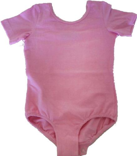 malla m/corta broches ballet rosada t-niñas envio gratis