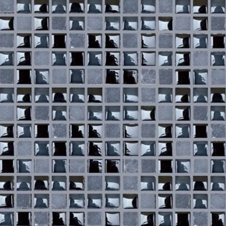 Malla mosaico negro 30x30cm 8mm castel azulejo para ba os for Mosaico para bano precios