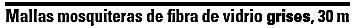malla mosquitero rollo fibra de vidrio grises altura 105 cm