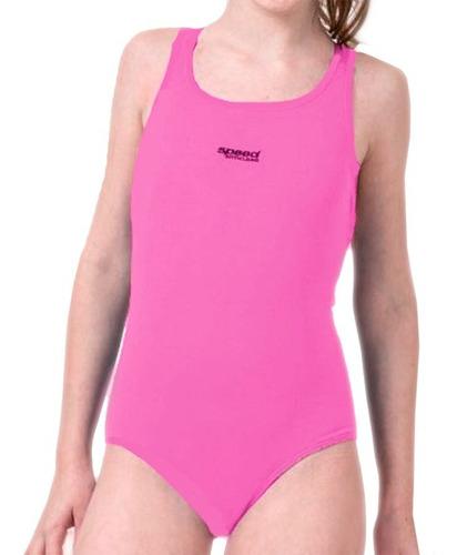 malla natación juvenil niña anticloro lisa speed