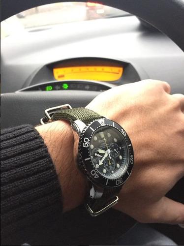 malla nato nylon p/ reloj tag rolex omega tissot seiko [gr]