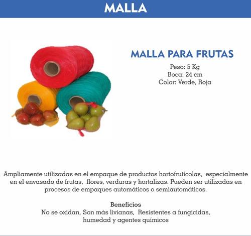 malla para frutas