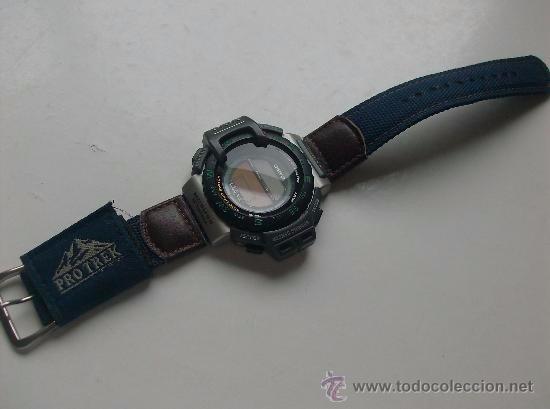 9046ace6cff7 Malla Para Reloj Casio Prt-10 Velcro Azul Agente Oficial -   690