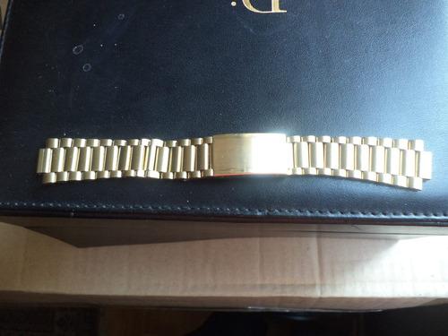 malla pulsera reloj omega enchape oro con terminales impeca