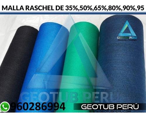 malla rachell 4.2x100 (35-50-65-80-90 y 95%) varios colores