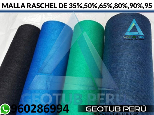 malla raschell de (35% - 95%) venta - instalación
