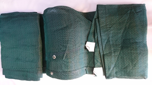 malla sombra 80% verde 1.75x3mt reforzada lista para ponerse