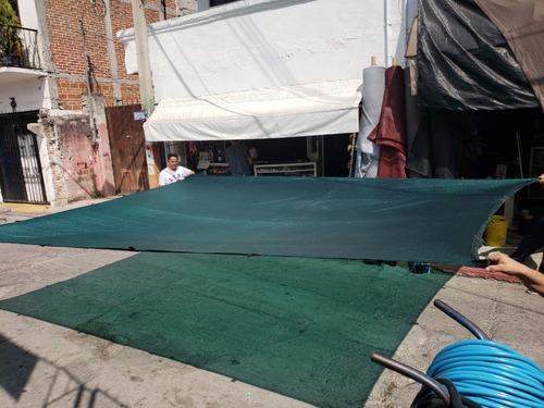 malla sombra 90% 5.20 m de ancho x metro lineal verde