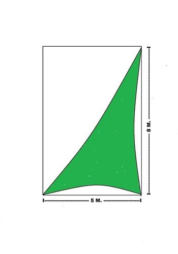malla sombra velaria arq. importacion 95% ( 8 x 5 m. )