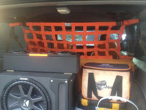 malla sujeta equipaje para rusticos, competencias y tuning