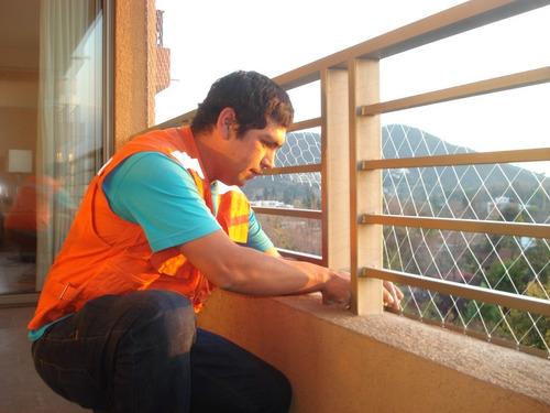 mallas anticaída protección balcones ventanas niños mascotas