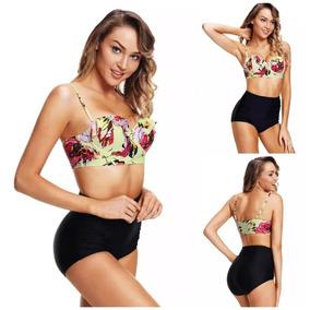 3xl Mallas Bikini De Tiro Alto Dama lTFK1J3c