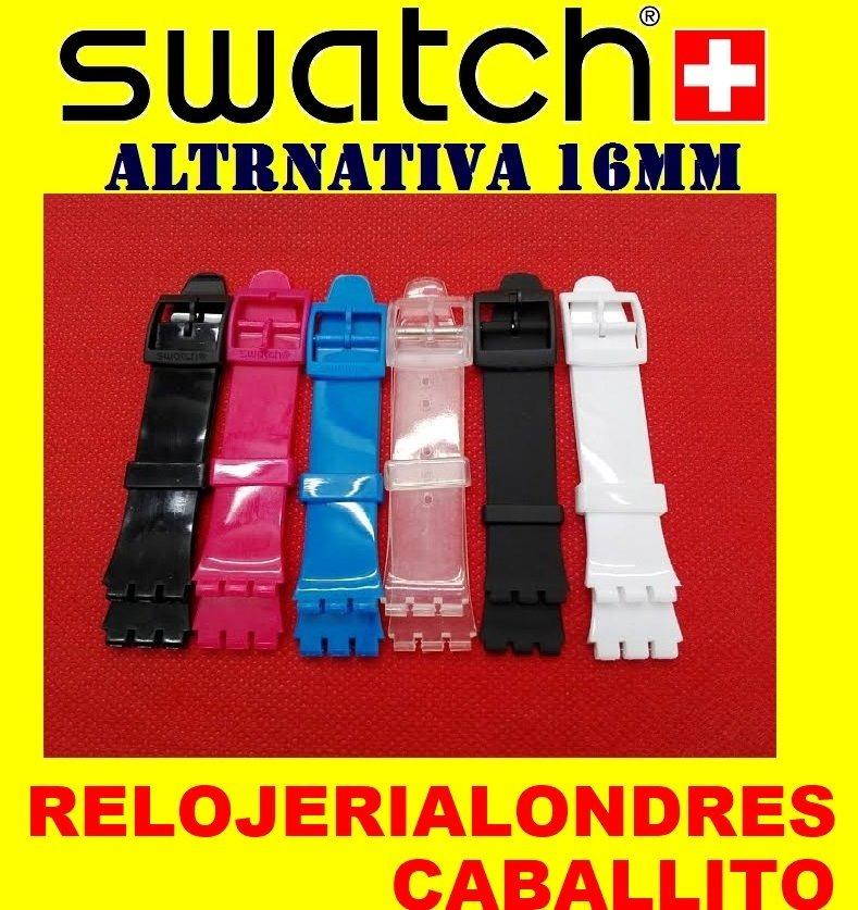 Relojes Correas Para Swatch 16mm Mallas Silicona PiOZXuTk