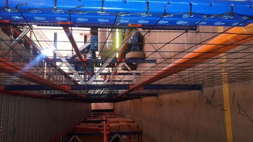 mallas de seguridad para estanterias en hilo nylon.