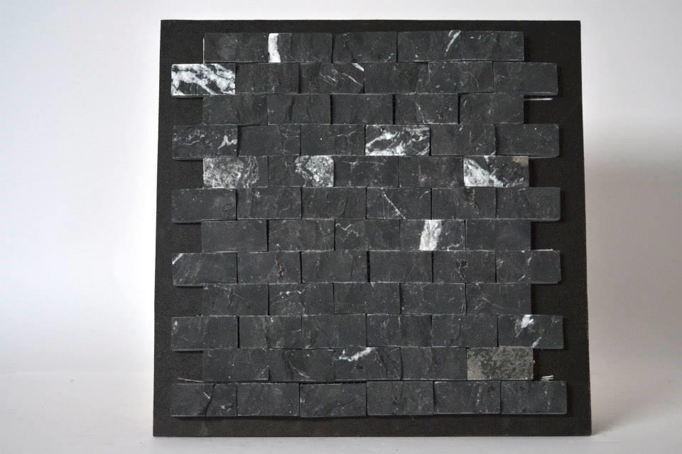 Mallas decorativas m rmol negro monterrey natural 30x30cm for Marmol negro precio