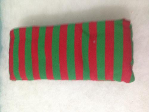 mallas gruesas rayada rojo con verde dama duende
