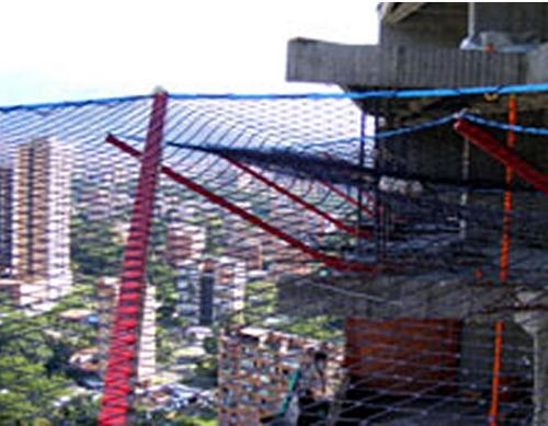 mallas para cerramiento en nylon alquitranado