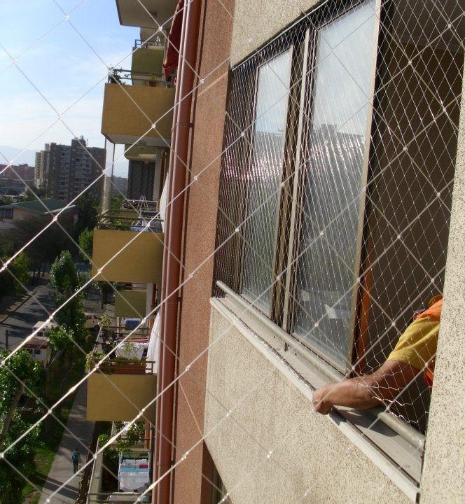 Mallas protecci n seguridad balcones ventanas ni os - Malla para balcones ...