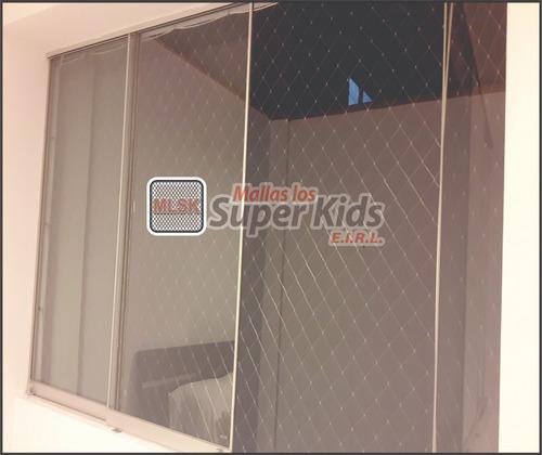 mallas protectoras para ventanas; balcones; escaleras etc