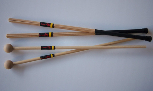 mallets mazos de madera tupá para xilofono placas blocks