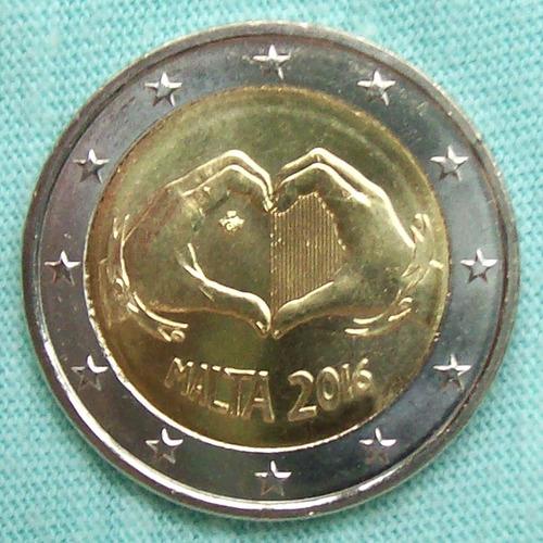 malta - moneda 2 euros 2016 - niños solidarios - ¡ s/circ. !