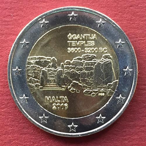 malta - moneda 2 euros 2016 - templos ggantija - ¡ s/circ. !