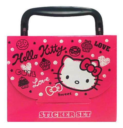 maltetín pequeño de stickers hello kitty