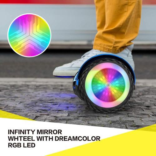 malumeta scooter eléctrico auto-equilibrado led altavoce