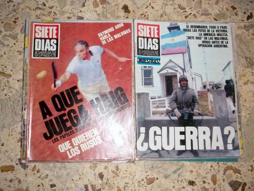 malvinas.12 revistas gente,siete días y radiolandia 2000.c/u