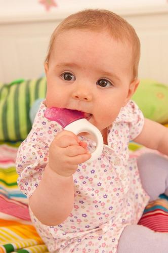mam mini refrigerador mordedor con el clip, chica, 2+ meses