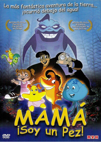 mamá ¡ soy un pez ! - help im a fish   - dvd original nuevo
