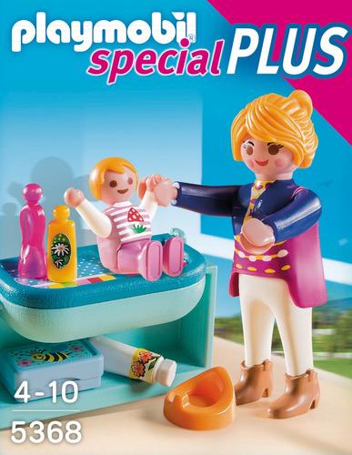 mama y niño con cambiador r5262 playmobil