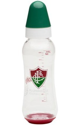 mamadeira do fluminense de 250 ml bico silicone lolly