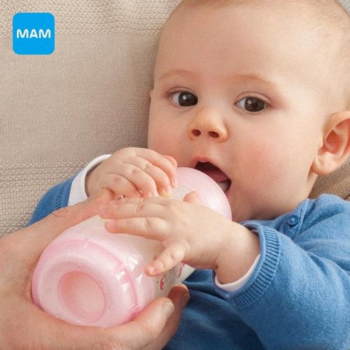 mamadeira mam first bottle 130ml bege anti cólica