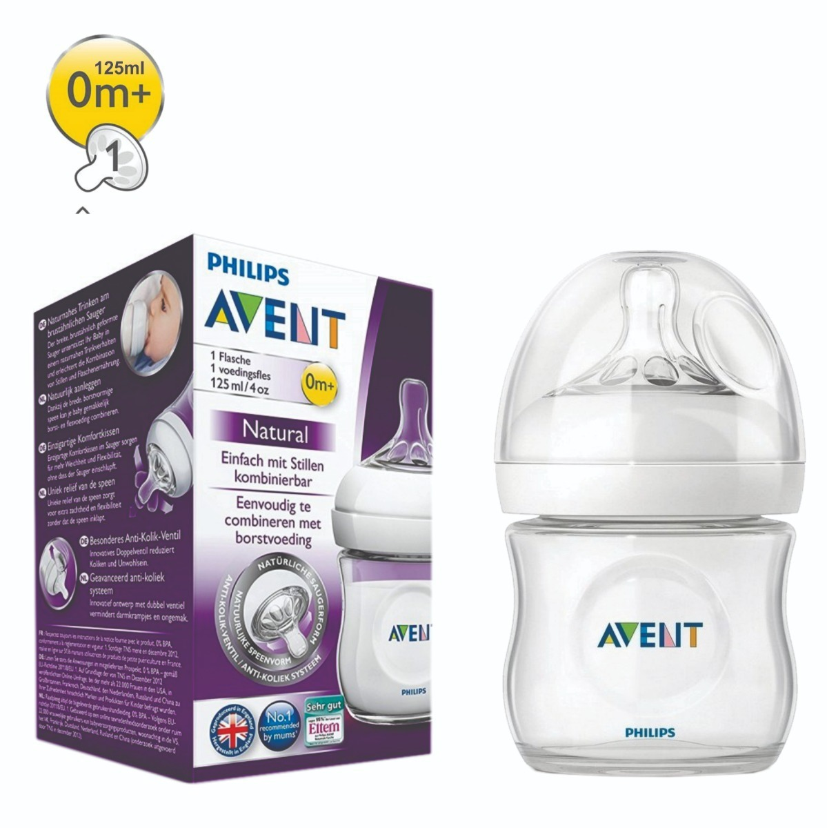 ddbded1a7a5bf mamadera natural 125ml anticolicos avent philips - toymania. Cargando zoom.