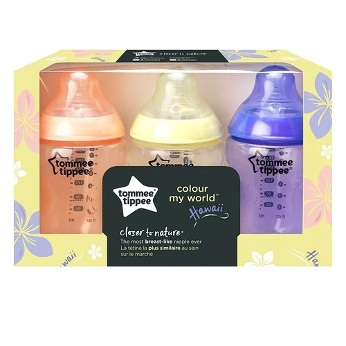 mamaderas x3 closer to nature hawaii 260ml 0m+ tommee tippee
