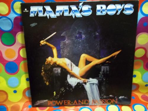 mamas boys lp power and passion,1985,vinil,seminuevo