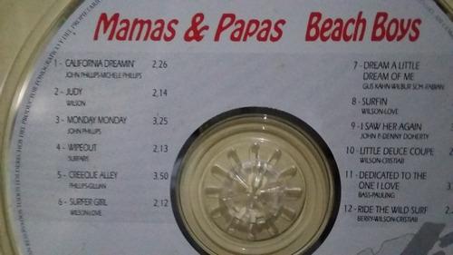 mamas & papas / beach boys cd rock