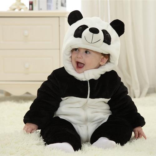 mameluco bebé panda pijama