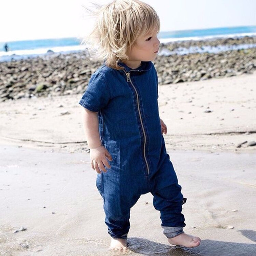 mameluco bebe unisex tipo jean muy suave, moderno. quedan 1!