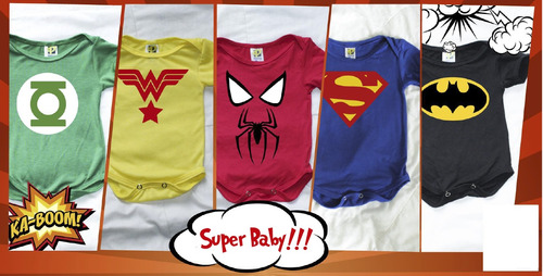 mameluco - body bebe supér heroes!!!