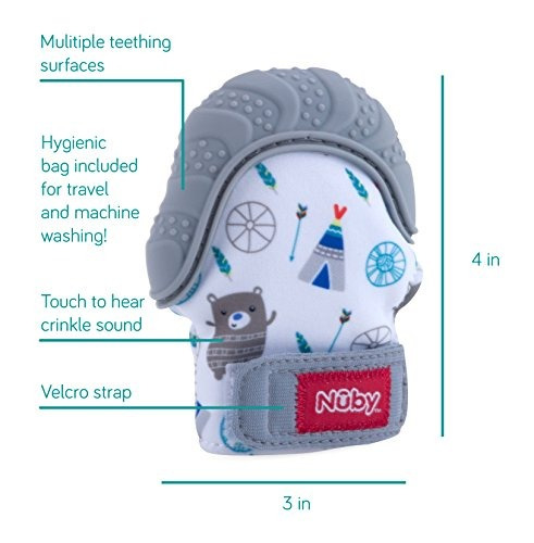 mameluco de denticion calmante nuby con bolsa de viaje higie