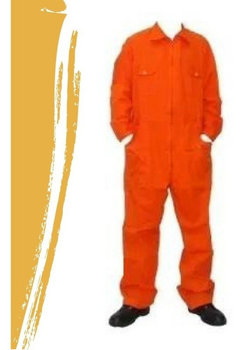 mameluco de gabardina pesada maser 8 onzas naranja