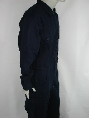 mameluco de trabajo azul oscuro gabardina pesada 8oz d.60-74