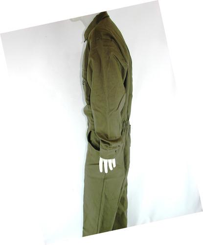 mameluco gendarmeria - overoll- verde todos los talles